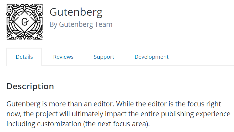 Transitioning to Gutenberg