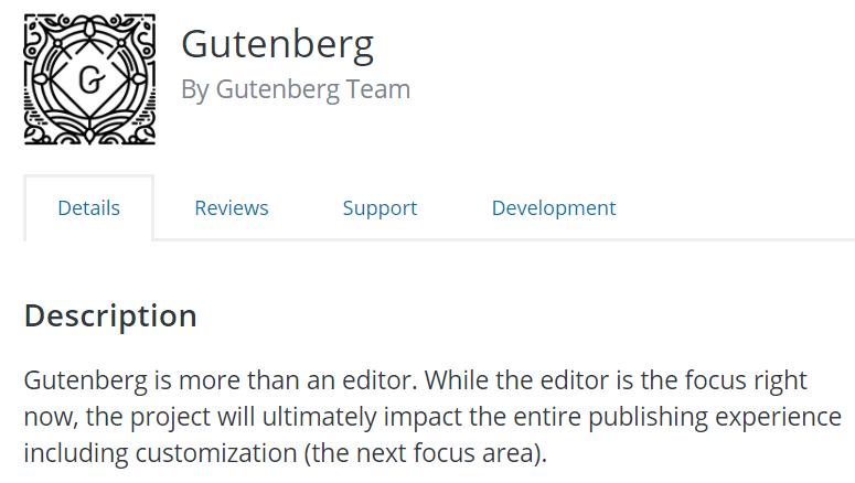 Transitioning to Gutenberg