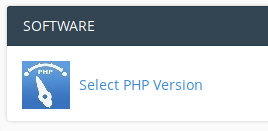 Select PHP version using cPanels PHP Selector