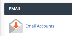 Email Accounts Module within cPanel